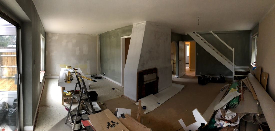 Lounge before painting